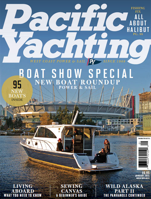 MM37 Pacific Yachting magazine Jan15 cover